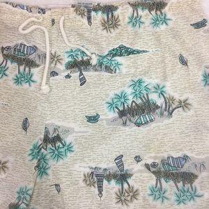 Gabrielle Shorts - Rare Gabrielle Md Island Palm Trees Print Trunks